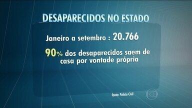 Mais de 20 mil pessoas desapareceram no estado de São Paulo este ano - Esses números não refletem a realidade. É que tem muita gente que foge de casa, depois volta, e a família esquece de avisar à polícia.