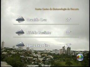 Chuva pode atingir o Oeste Paulista a qualquer momento nesta quinta-feira - Áreas de instabilidade ajudam a formar fluxo de vento.