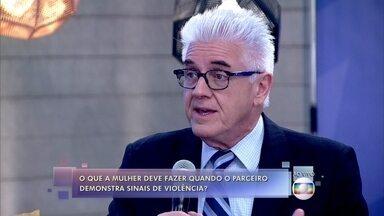 Convidados repercutem casos de violência contra a mulher - Fátima alerta a importância de denunciar agressões no disque-denúncia