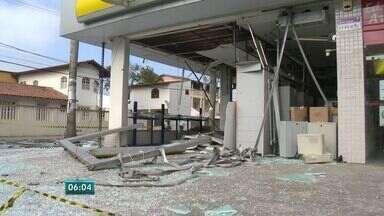 Secretário de Segurança avalia explosão em banco em Jacaraípe, ES - Em um dia, dois bancos formam alvo de criminosos.