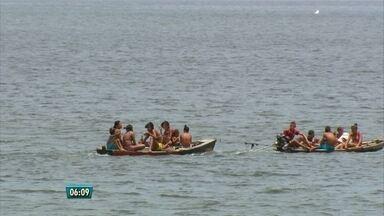 Cinegrafista flagra barcos superlotados no rio Capibaribe, no Recife - Havia inclusive crianças e ninguém usava colete.