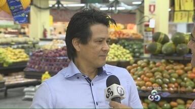 Dieese comenta diferença de valores de produtos da cesta básica em Manaus - Valor da cesta, composta por 12 produtos, é R$ 337,42; reajuste de 0,5 %.