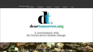 Conheça o site 'Dear Tomorrow' - Zé Marcelo explica que através do site é possível escrever cartas sobre o aquecimento global para gerações futuras
