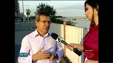 Prefeito de Colatina fala de chegada de lama no Rio Doce, no ES - Lama deve chegar ao estado nesta segunda-feira.