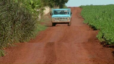 Estrada que liga comunidade rural de Aparecidinha à Santa Terezinha de Itaipu é precária - Moradores reclamam das condições da estrada.
