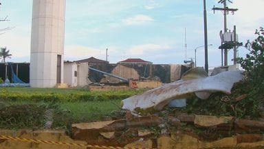 Mãe e filha morrem após reservatório do Daae se romper em Araraquara - Vítimas de 81 e 59 anos passaram mal, foram socorridas, mas não resistiram. Fornecimento de água voltou ao normal na manhã desta quinta-feira (12) nos bairros que eram abastecidos pelo reservatório.