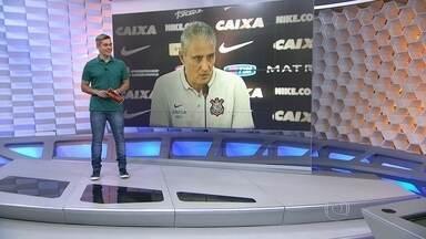 Ao receber a Seleção no CT do Corinthians, Tite diz que não deixaria clube por nada - Prestes a ser campeáo brasileiro, Tite demosntra vontade de permanecer no Timáo