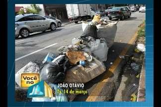 Morador denuncia acúmulo de lixo na travessa 14 de Março, em Belém - Segundo a comunidade, os resíduos se acumulam há pelo menos 7 dias.