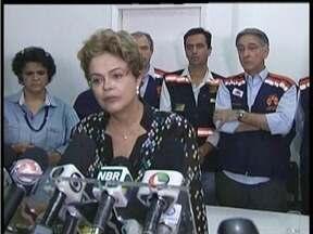 Presidente Dilma visita Valadares e anuncia ações para conter a falta de água na cidade - Também na cidade ela anunciou que a Samarco será multada em R$ 250 milhões.