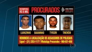 Homens apontados como assassinos de policiais são procurados - O Portal dos Procurados oferece R$ 5 mil a quem der informações que levem à prisão de quatro homens apontados como assassinos de policiais.