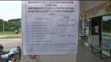 Sobe o preço de passagens de ônibus para cidades da RMC - O aumento é válido para Quitandinha, Mandirituba e algumas linhas de Fazenda Rio Grande.