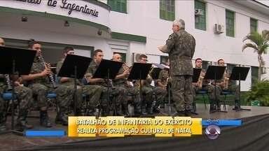Batalhão de infantaria do exército promove programação cultural de Natal em Florianópolis - Batalhão de infantaria do exército promove programação cultural de Natal em Florianópolis