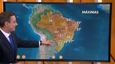 Confira como fica o tempo nesta quinta-feira (3) em todo o Brasil - A chuva vai dar as caras em quase todo o Brasil, só no Nordeste é que o tempo deve ficar mais seco. Já em alguns lugares do Sudeste e também do Sul, pode vir chuva bem forte, principalmente à tarde.