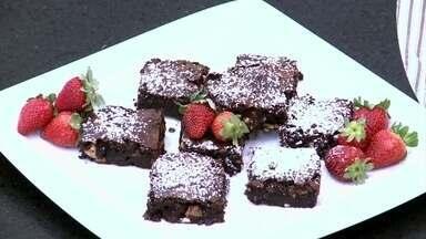 Brownie de Creme de Avelã - Delícia é ótima pedida acompanhada de sorvete ou puro