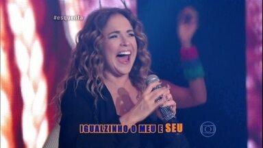 Daniela Mercury empolga com 'Rapunzel'' - O sucesso agita a plateia do Esquenta!