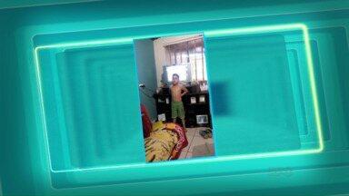 """Telespectadores mandam vídeos para o quadro """"Você no Paraná TV"""" - Os vídeos são enviados para o telefone (45) 9951-5958."""
