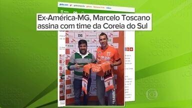 Destaque do América-MG na Série B, Toscano vai jogar na Coreia do Sul - Atacante Marcelo Toscano acerta com o Jeju United por duas temporadas
