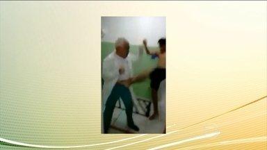 Médico é agredido por paciente em posto de saúde em Tibau do Sul (RN) - A Justiça determinou que o agressor não pode sair do estado ou do país. Em nota, o agressor pediu desculpas ao médico. Ele vai responder por lesão corporal.