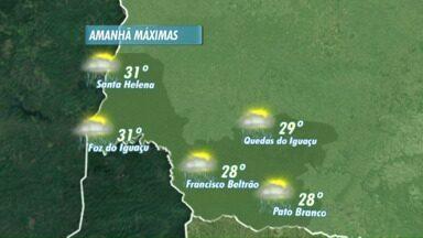 A previsão é de mudança de tempo para esta quarta-feira - Deve chover nas cidades do oeste e sudoeste.