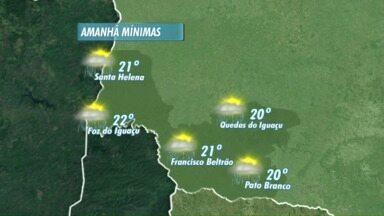 Tempo instável continua em todo Paraná - O sol intercala com pancadas de chuva no oeste e no sudoeste.