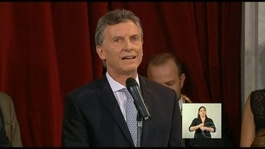 Mauricio Macri toma posse como presidente da Argentina - A posse aconteceu em cerimônia no Congresso Nacional, sem a presença de Cristina Kirchner. A presidente Dilma Rousseff participou da solenidade.