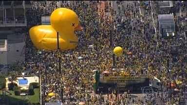 Manifestantes a favor do impeachment vão para as ruas em 86 cidades - Pela quinta vez este ano, manifestantes foram para as ruas pedir o impeachment da presidente Dilma. Número de participantes foi menor do que o registrado nos outros protestos.
