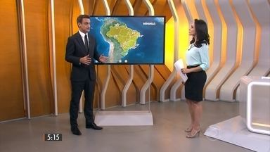 Confira como fica o tempo nesta quarta-feira (16) em todo o Brasil - São esperadas pancadas fortes de chuva entre o norte do Paraná, São Paulo, sul de Minas Gerais e do Rio de Janeiro, seguindo pelo Centro-Oeste e Norte do Brasil.