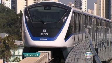 Linha 15-Prata do Monotrilho tem horário de funcionamento alterado - As duas únicas estações abertas até hoje da linha 15-Prata do Monotrilho estão com novo horário de funcionamento. A partir desta segunda-feira (21) os trens operam entre 6h e 20h.
