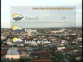 Chuva pode atingir o Oeste Paulista a qualquer hora do dia - Confira a previsão do tempo para esta segunda-feira (21).