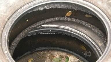 Pneus com água parada nas ruas dificultam o combate ao mosquito da dengue - Água se acumula em peças de carro e pneus abandonados na Av. Aricanduva, Zona Leste e na região do Brooklin, na Zona Sul.