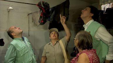 Bairro José Walter, em Fortaleza, recebe mutirão contra a dengue - Governador e prefeito participaram da ação.