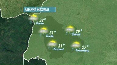 Últimos dias do ano prometem ser de muita chuva no Oeste do Paraná - As temperaturas seguem altas.