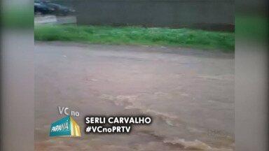 Chuvas intensas causam alagamentos em Guarapuava e região - O tempo segue chuvoso nos próximos dias.