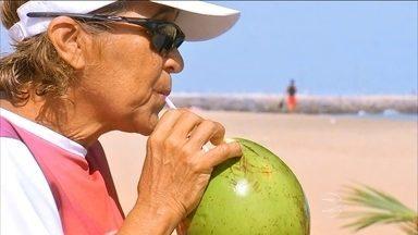 Entenda os benefícios da água de coco - A banquinha de coco é o ponto final da caminhada de muita gente. Quando está muito calor, uma pessoa pode perder até dois litros de água na transpiração por dia.