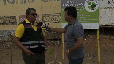 Projeto Ponto Vivo revitaliza área no bairro do Poço - Espaço que era utilizado para o descarte irregular de lixo. O coordenador de fiscalização da Slum, Carlos Tavares, explica mais sobre o que foi feito no local.