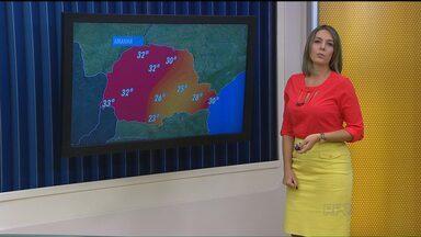Fim de semana deve ser com temperaturas altas - Deve ficar quente em todas as regiões do Paraná.