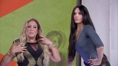 Susana Vieira elogia Juliano Cazarré: 'A gente tem muita química' - Atriz invade o estúdio do Vídeo Show e rouba a cena