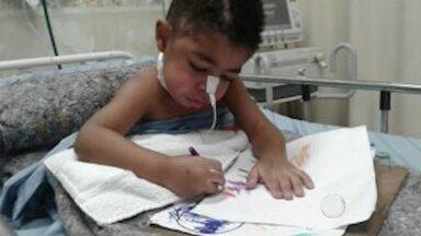 Após três meses de espera, criança de Barreiras vai fazer radioterapia em Feira de Santana - O pequeno André, de dois anos, tirou um tumor do cérebro e precisa concluir o tratamento.