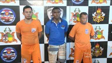 Suspeitos de assaltar agência bancária de Icatu são apresentados em São Luís - O assalto aconteceu a uma agência bancária do Bradesco na semana passada.