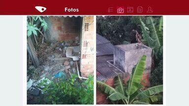 Moradores reclamam de lixo em terreno vizinho em Nova Rosa da Penha II, no ES - Moradores se preocupam com possíveis focos do mosquito da dengue.