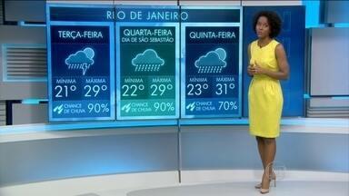 Previsão de chuva para o Sudeste nesta terça (18) - Previsão de chuva forte para o Sudeste e Nordeste do país. Tempo firme para o Sul, Centro-Oeste e Norte do país