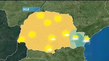 Sol deve brilhar forte em quase todo o estado - Temperaturas altas continuam