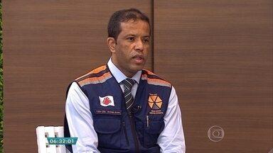 Mais de 20 cidades de Minas comunicaram problemas por causa da chuva nesta semana - Veja a entrevista com o tenente-coronel da Defesa Civil Ronilson Caldeira.