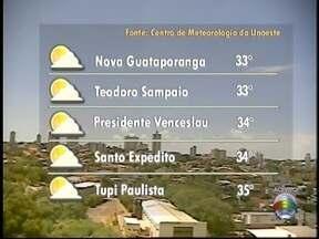 Sábado prossegue com tempo firma na região de Presidente Prudente - Confira a previsão da meteorologia para os municípios do Oeste Paulista.