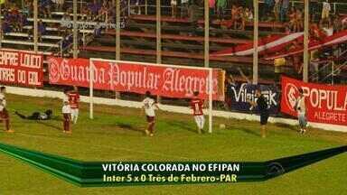 Inter goleia e segue invicto no Efipan - Assista ao vídeo.
