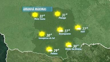 Veja como fica o tempo neste domingo - O sol continua predominando e as temperaturas sobem bastante.