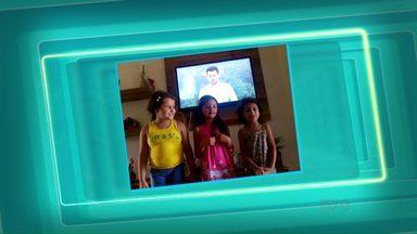 """Telespectadores mandam vídeos para o quadro """"Você no Paraná TV"""" - Os vídeos são enviados para o telefone: (45) 9951-5958."""