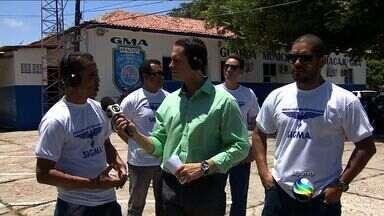 Guardas Municipais fazem manifestação em Aracaju - Guardas Municipais fazem manifestação em Aracaju.