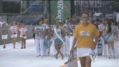 Passarela Dráusio da Cruz é inaugurada em Santos, SP - Local receberá os desfiles de carnaval da cidade