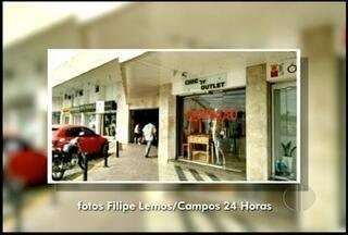 Bandidos arrombam loja em shopping de Campos, no RJ - Nenhum suspeito foi encontrado.